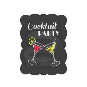 Placa Decorativa - Cocktail Party
