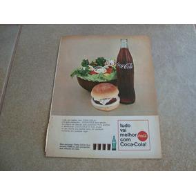 Propaganda Antiga Bebidas Coca Cola 1966 Refrigerante