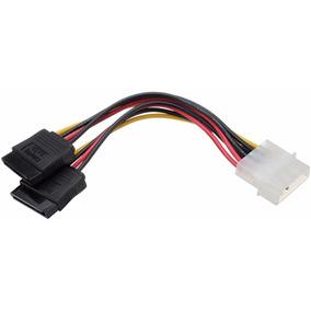 Cable De Poder Sata De 2 Conectores Wash
