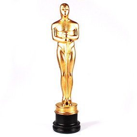 Troféu Estatueta Oscar Dourada Hollywood Cinema 33 Cm