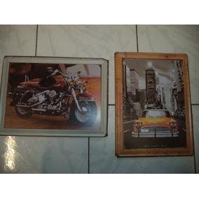 Placas Em Metal/quadros/pôsters Carros E Motos/decoração