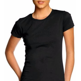Camiseta Feminina T-shirt Básica Lisa S/estampa 100% Algodão