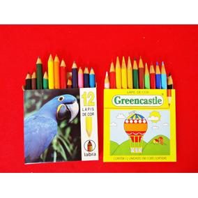 Lembrando Escola: Dois Conj. Lápis De Cor Desenho
