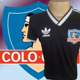 4266f9d23f Camisa Retrô Colo Colo Preta 1984