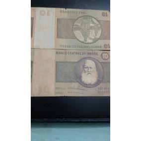 Uma Nota De 10 Cruzeiros De 1970 Letra A Numerao Paicha