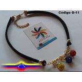 Choker - Gargantilla De Venezuela - Bolas De Fuego - Collar