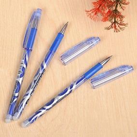 2x Caneta Apagavel Por Fricção 0,5mm Azul/preta Que Apaga