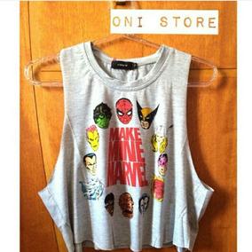 Cropped Marvel Feminina - Camisetas e Blusas no Mercado Livre Brasil a54b6a601cb