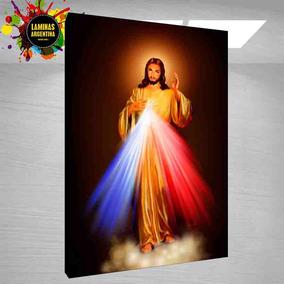 Jesus Misericordioso Cuadro Con Imágenes Religiosas 70x100cm