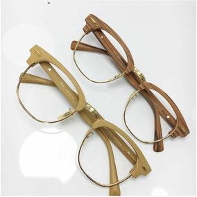 1796ed1a17262 Óculos Estilo Madeira - Óculos no Mercado Livre Brasil