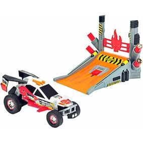 Carro Hot Wheels Stunt Fx Explosive Ramp Con Luces Y Sonidos