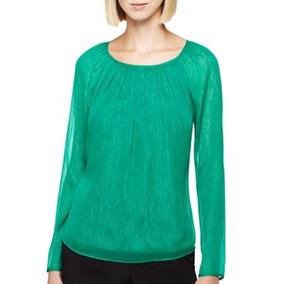 Blusa Verde Mediana Y Grande Marca Ronson