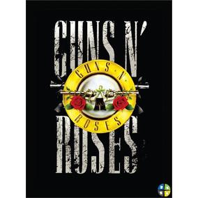 Quadro Poster Guns N Roses Gnr Rock Bandas Com Moldura A3