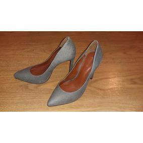 8613ee97a69 Scarpin Shoestock Cinza Nr 37 - Nunca Usada