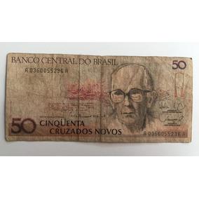 Cédula, Nota 50 Cruzados Novos - Carlos Drummond Andrade