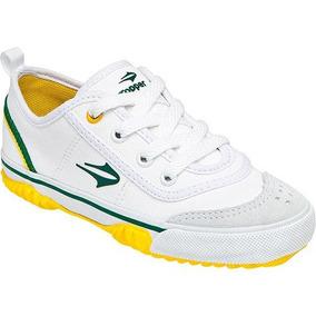 Tênis Topper New Casual Iii Jr. Branco/verde/amarelo 29 Novo