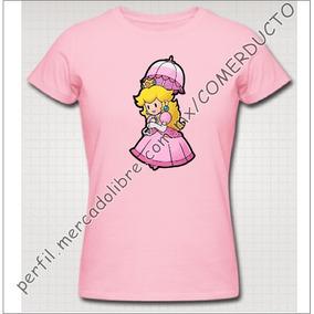 Playeras Nintendo Playeras Mario Bros Princess Peach Hnsn