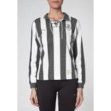 ffbfb5f187 Camisa Feminina Botafogo Listrada Retrô Manga Longa