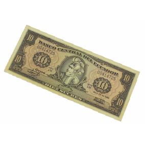 10 Diez Sucres Nota Cédula Do Equador 1986 N0198