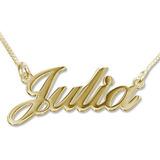 Dije Con Nombre Personalizado En Oro Amarillo De 18k Regalo