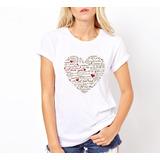 Remera Corazon Love Amor - Estampados Con Onda