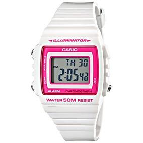 f4df9c66bfe6 Cuarzo Blanco Reloj Casio W-215h Niños-7a2vcf Digital Clas