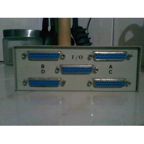 Data Switch Selector 4 Puerto Impresora Paralelo Lpt1 Db25