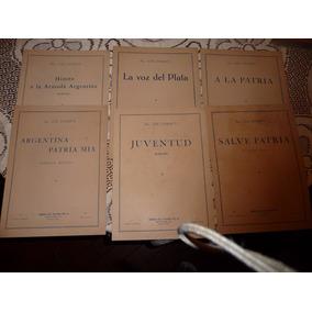 8 Antiguas Partituras Militares Y Escolares - José Zanetti