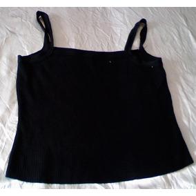 T-0075 Blusa Negra Pierre Cardin