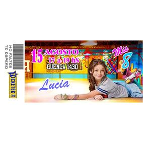 Tarjetas De Invitacion Tipo Ticket De Cumpleanos Soy Luna