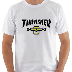 Camiseta Thrasher Skateboard Skate Hip Hop b93b9a9c470