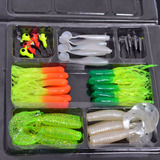Kit Iscas Artificiais Silicone Jig Head Tucunare Traira 35pç