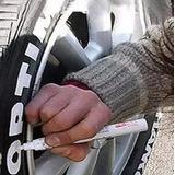 Plumon Marcador Letras De Llantas Moto Carro Envio Gratis