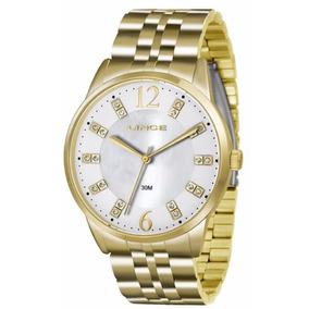 38ea5b4acf2 Relogio Lince Feminino Dourado Strass - Relógio Lince Feminino em ...