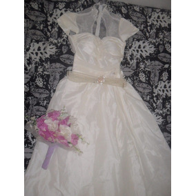 Vestido De Noiva Princess Grace Kelly + Cinto + Buquê