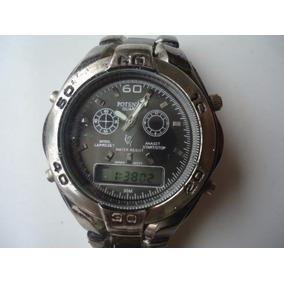 Relógio Potenzia Analogo E Digital Titaniun