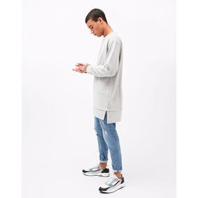 Camisa Oversized Longline Masculina Moleton Moletom Swag