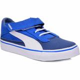Tênis Puma Azul E Branco Maeko S V Kids 22