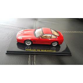 Miniatura Ferrari 550 Maranello Vermelha Metal Aço Coleção