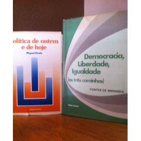 Pontes De Miranda E Miguel Reale 2 Livros Raros