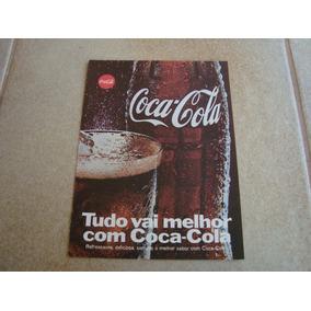 Propaganda Antiga Bebidas Coca Cola 1969 Refrigerante 12