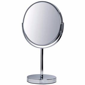 Espelho Para Maquiagem De Mesa Grande Dupla Face 5x Aumento