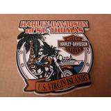 Iman Fridge Magnet Harley Davidson U.s Virgin Islands Biker