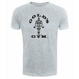 Camiseta Golds Gym Cinza - Musculação - Fitness - Maromba 3b55b303c86