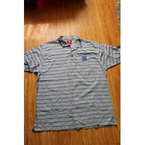 Playera Tipo Polo Gris Rayas Azules Gigantes Ny Nfl Talla Xl 17f994a7e5800