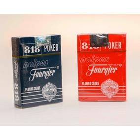 Cartas De Poker Originales Plastico Fournier 818 Set 55pz