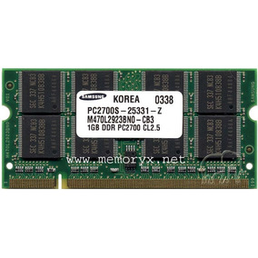 Memoria Ram 1gb Pc2700 Ddr 333 Mhz Sodimm Para Laptop