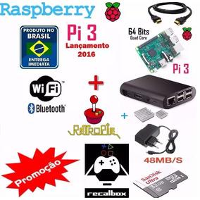 Multijogos Raspberry Pi3 Recalbox 32gb 2 Controles (2018). R  440 da0186dcd2f17