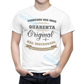 Camisa Personalizada Para.aniversario De 40 Anos Homem - Camisetas e ... acad3c265e794