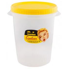Hermetico De Plastico Clarificado Con Rosca (varios Colores)